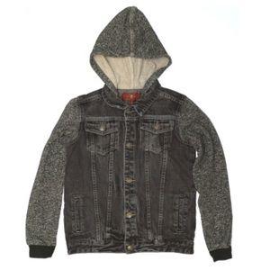 7 For All Mankind X-Large kids denim jacket black